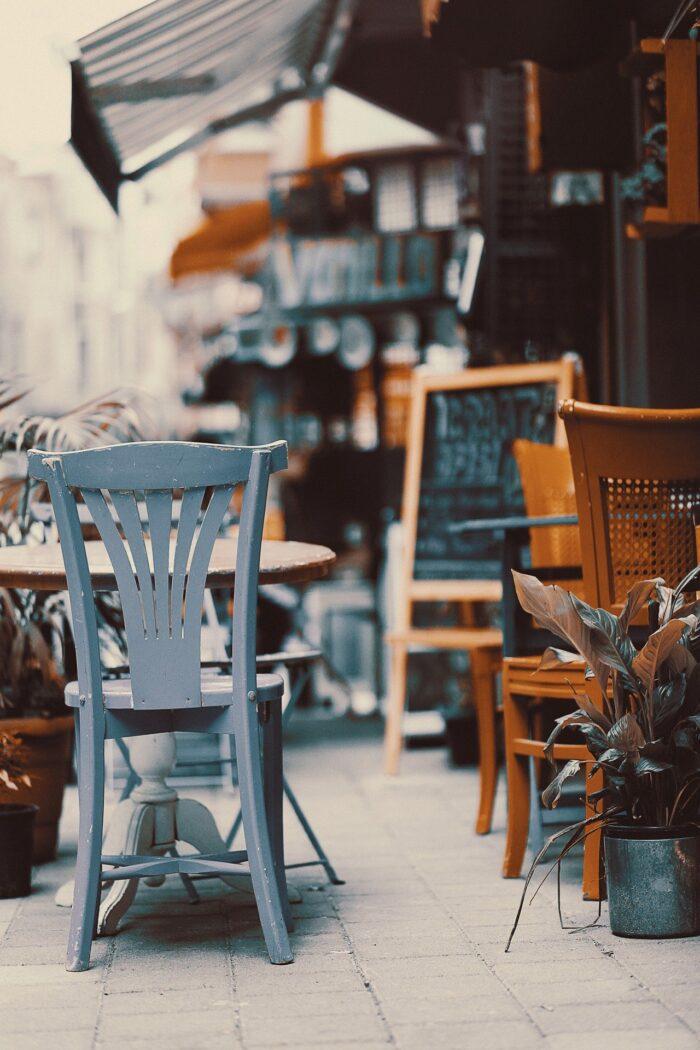 Cafe set fra fortovet